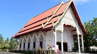 Holiday in Wat Phra Thong poi in Thailand