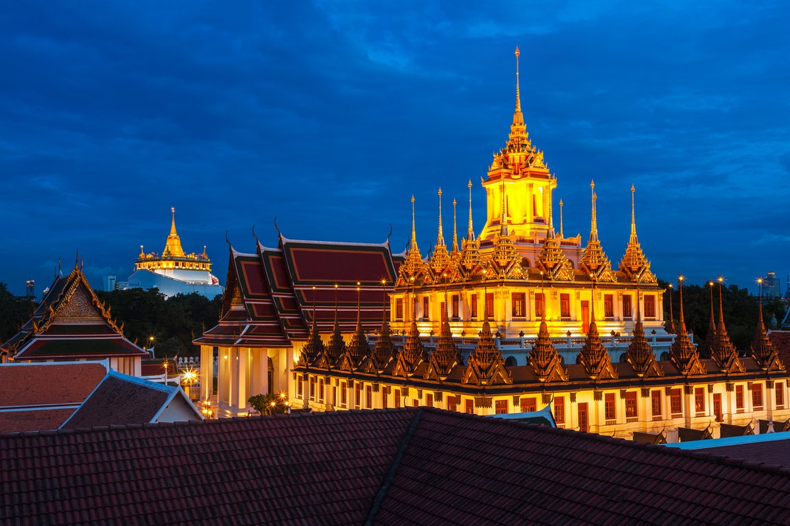 Wat Saket in Bangkok - Temple of the Golden Mount  Thailand Holiday