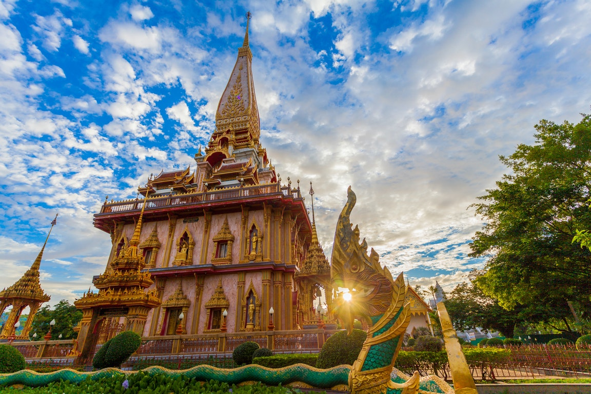 Wat Chalong in Phuket poi Thailand Holiday